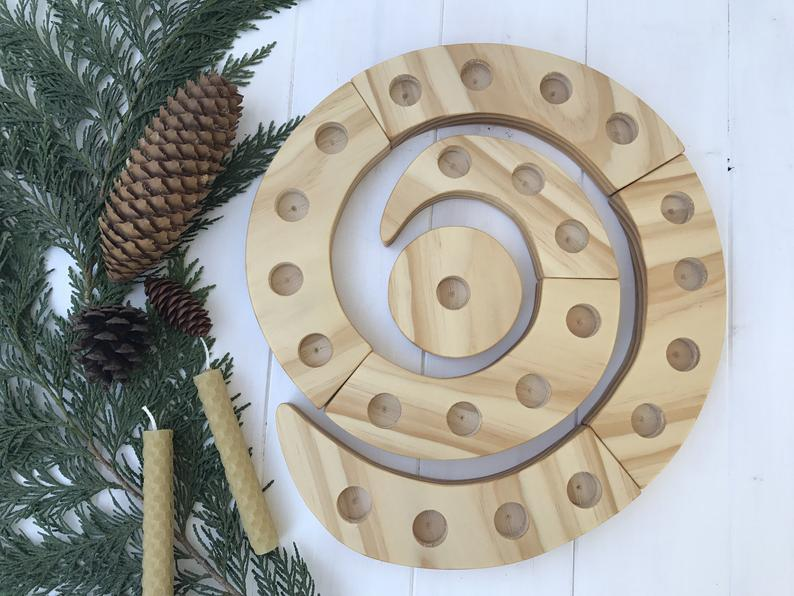 advent spiral as a countdown to Jesus birth