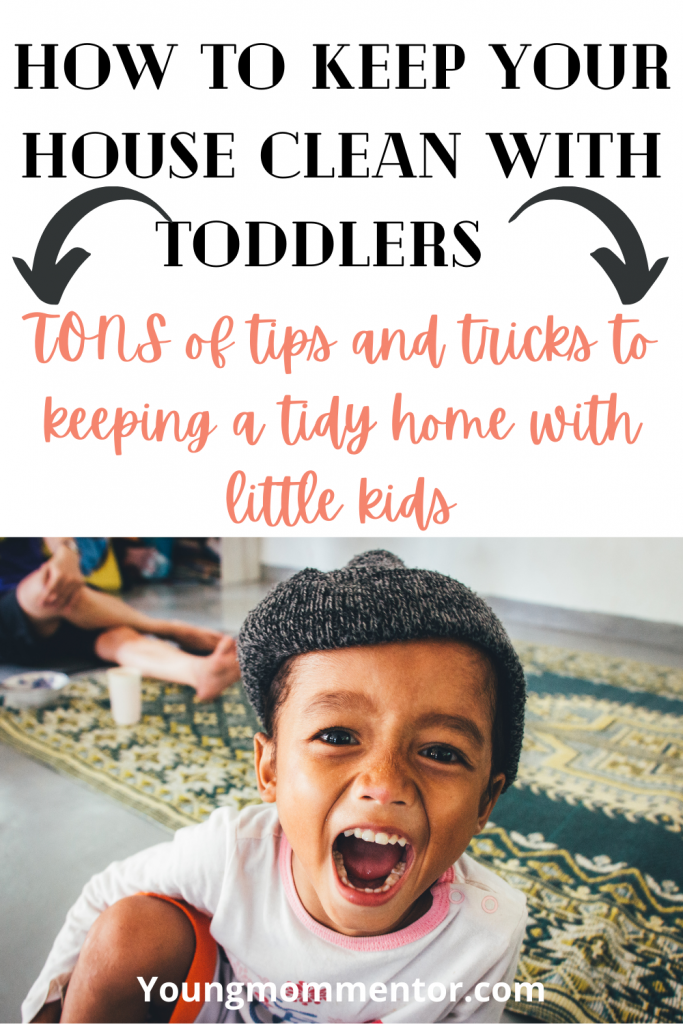 tips for keeping the house clean with little kids