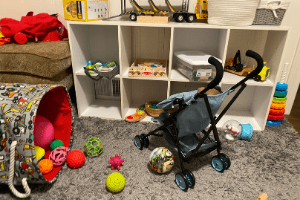 how to keep a clean house with toddlers