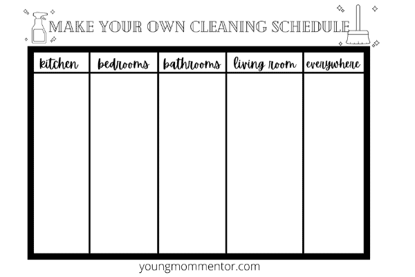 how to make your own stay at home mom cleaning schedule