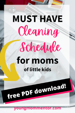 must have cleaning schedule for SAHMs