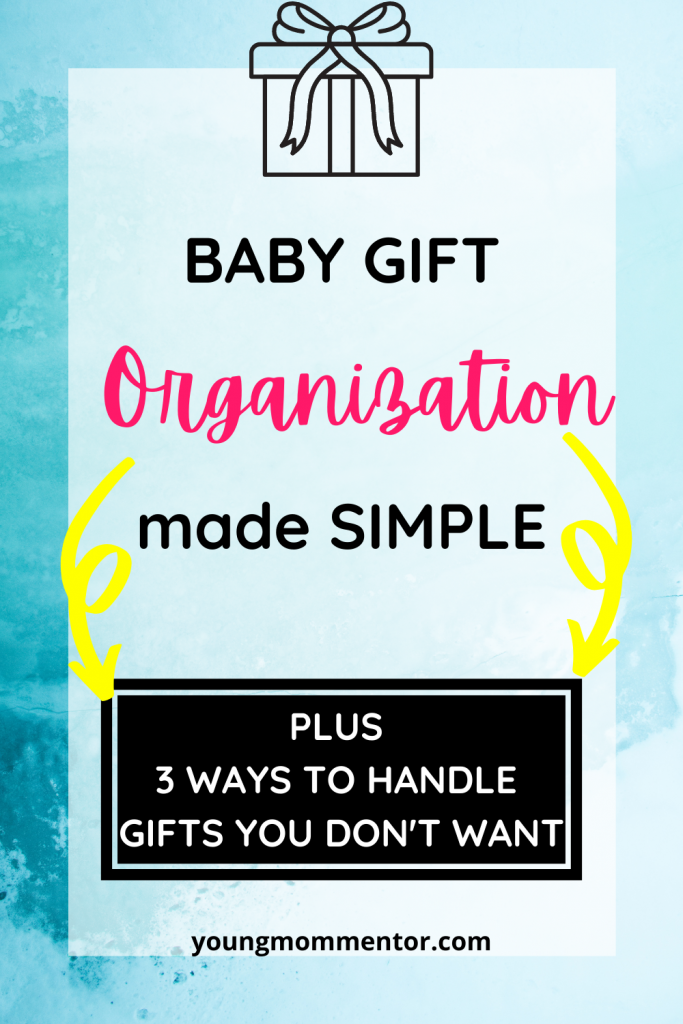 how to organize baby shower gifts