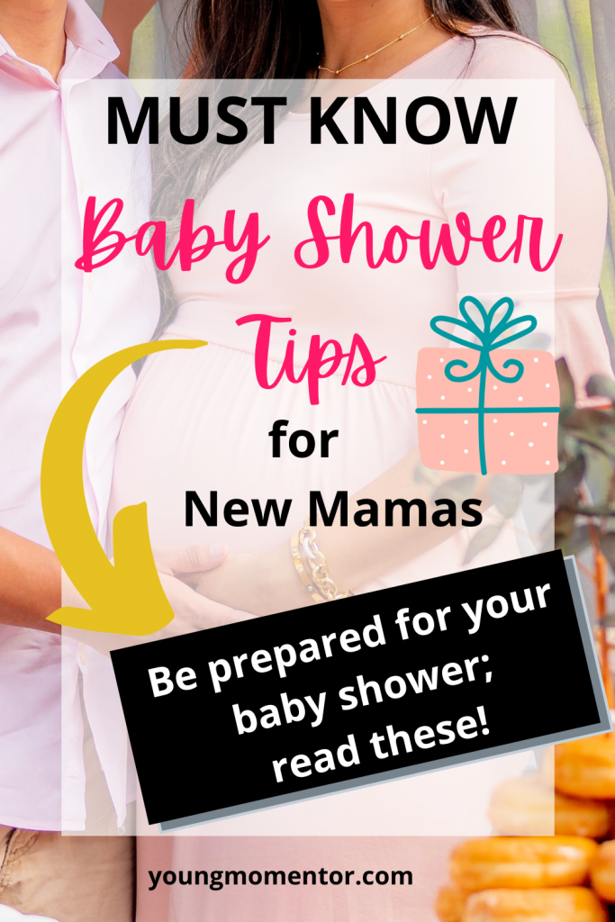 baby shower tips for first time mom