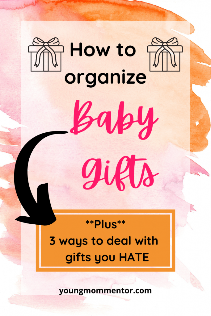 organizing baby shower gifts