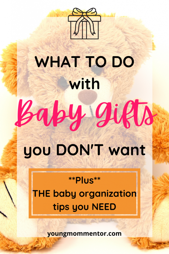 what to do with baby presents you don't want